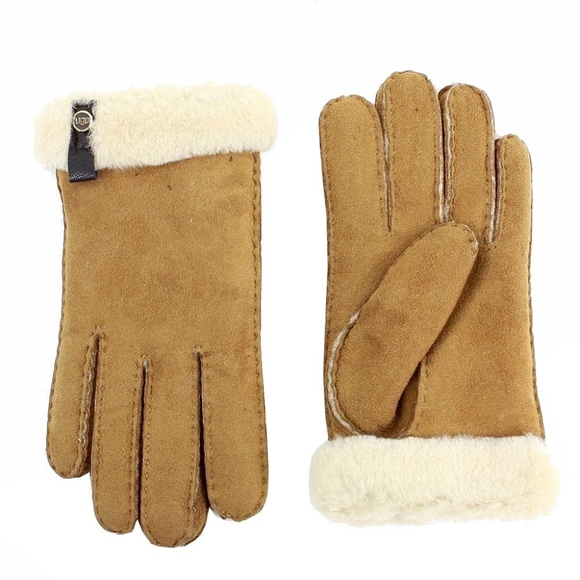 2f7624f66 UGG Accessories | Tenney Shearling Suede Gloves New | Poshmark
